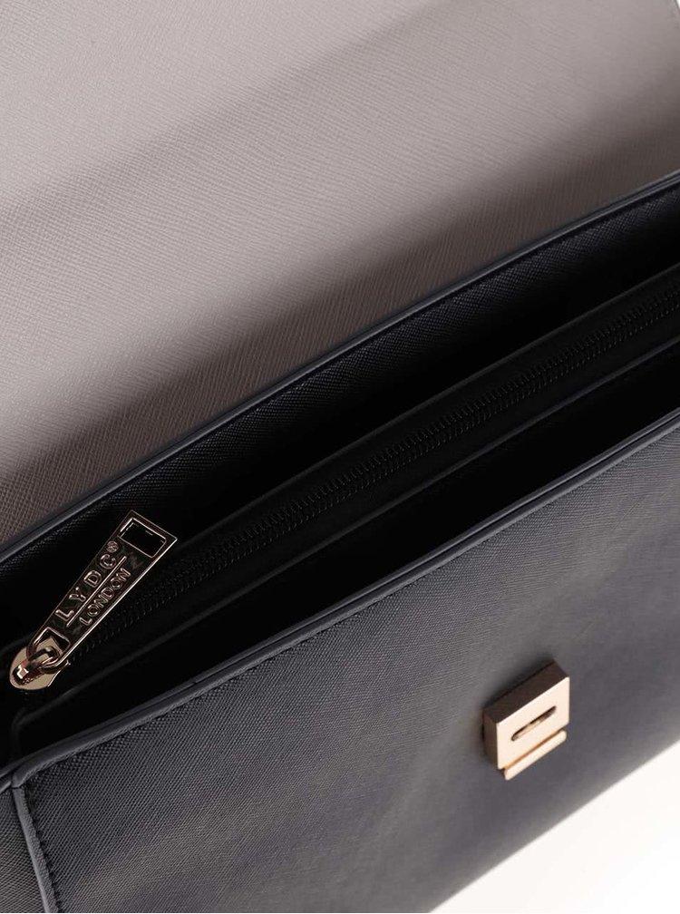 Krémovo-čierna crossbody kabelka s mašľou LYDC