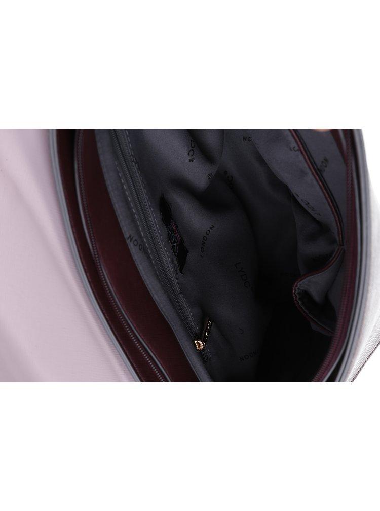 Růžovo-vínová crossbody kabelka s mašlí LYDC