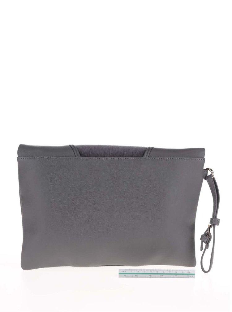 Sivá listová kabelka s pútkom LYDC