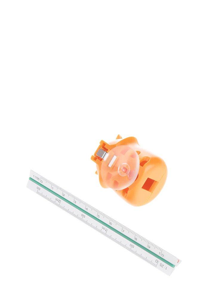 Oranžový držák na zubní kartáček Kikkerland Fox