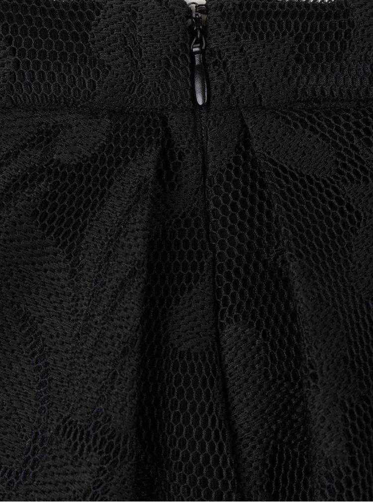 Fustă neagră din dantelă VILA Crea