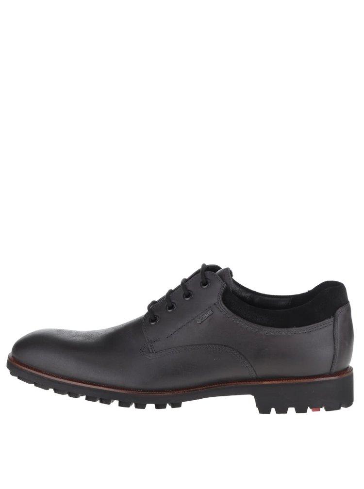 Pantofi negri din piele Lloyd Giovanni