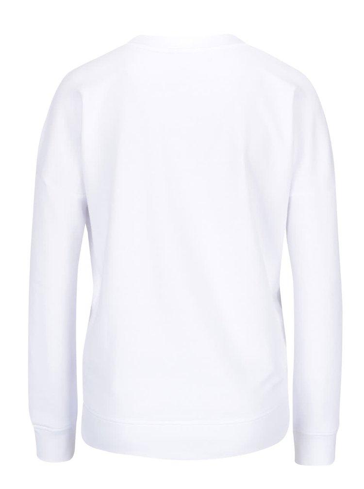 Bluza alba Noisy May Change cu print