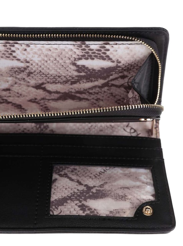 Černá dámská peněženka s plastickými detaily Gionni Estella
