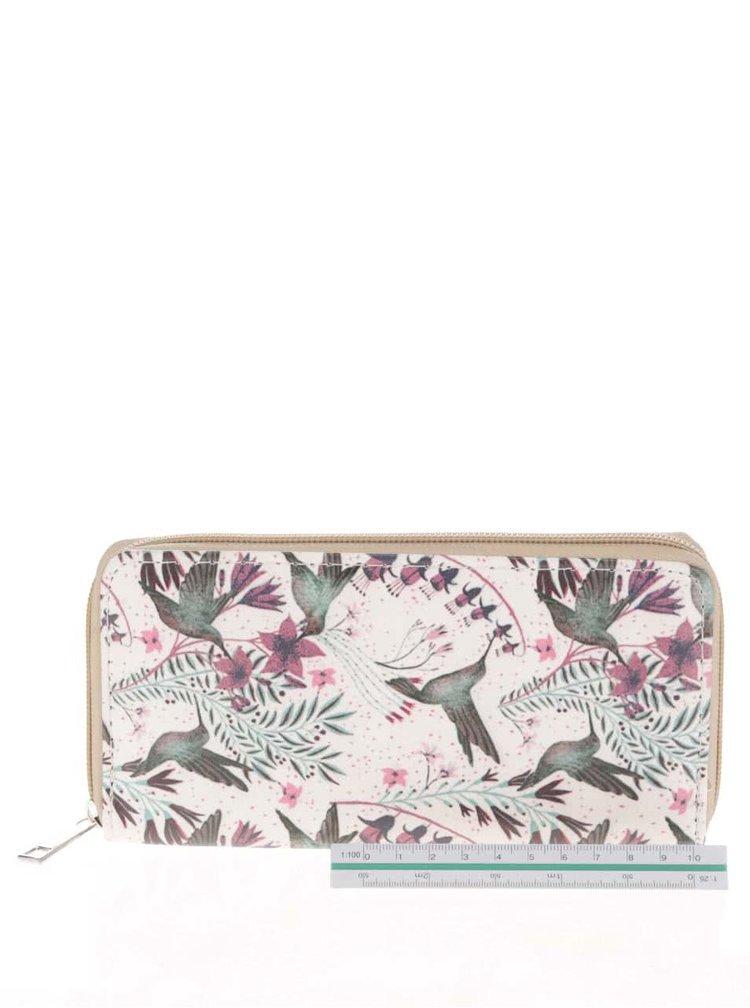 Krémová peněženka s motivem ptáčků Haily's Dream