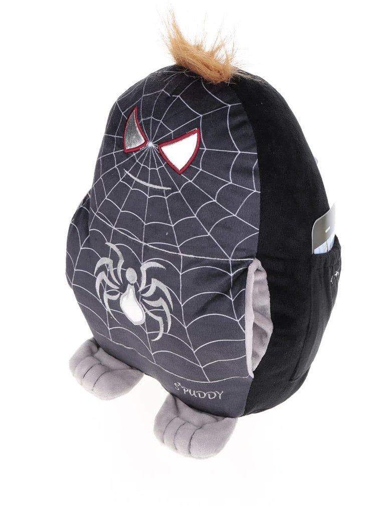 Pernă neagră Something Special Spuddy Spiderman din pluș