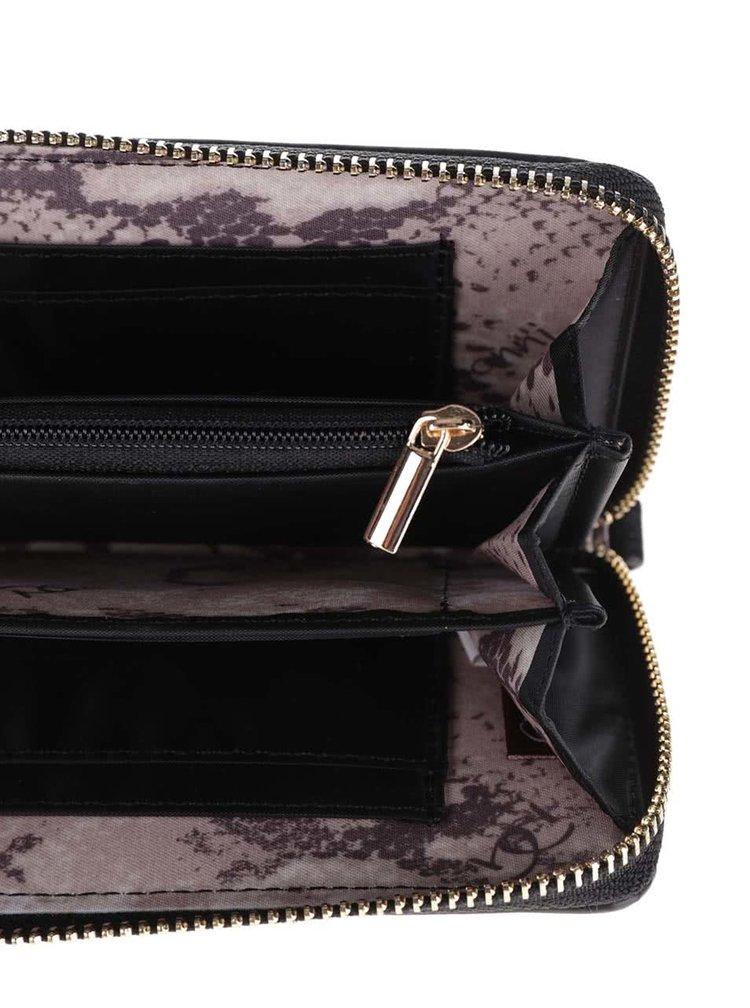 Černá dámská peněženka s plastickými detaily Gionni Purses