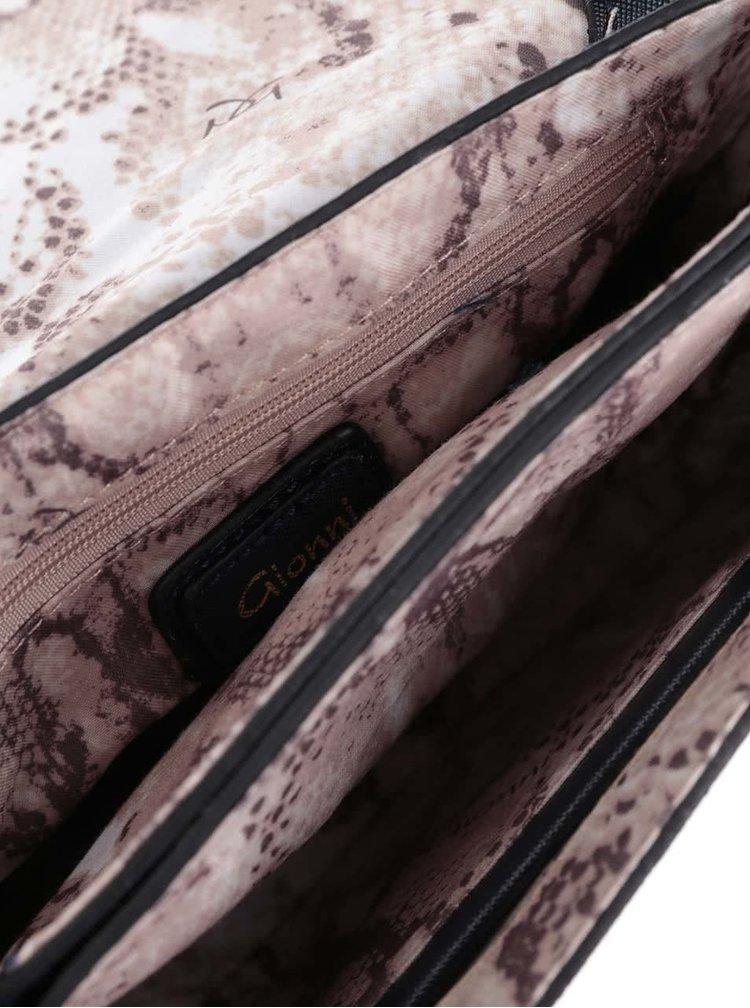Tmavě modrá crossbody kabelka s mašlí Gionni Sora