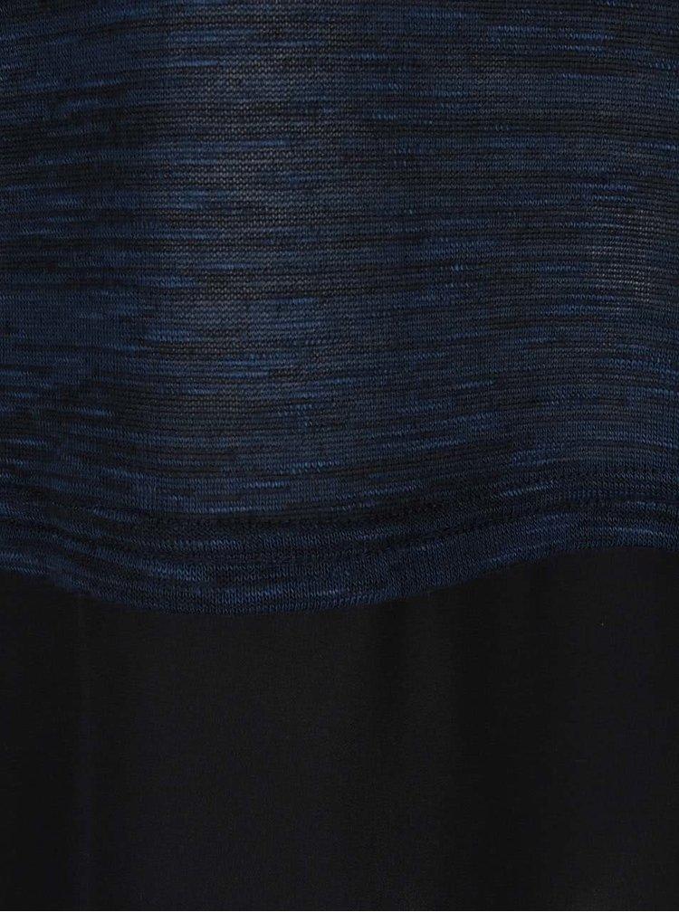 Černo-modrá žíhaná halenka s dlouhým rukávem VERO MODA Julia