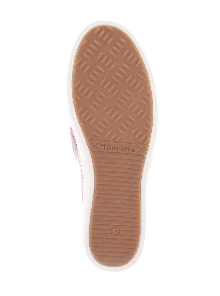 Teniși slip on roz Tamaris cu aplicații