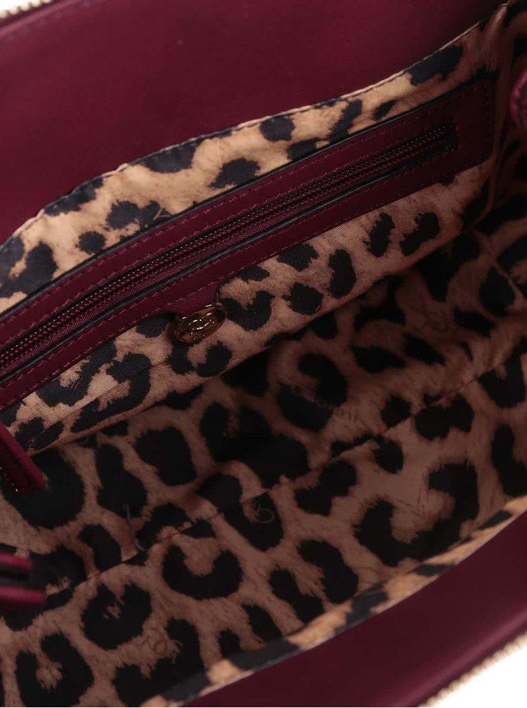 Vínová kabelka s detaily ve zlaté barvě Gionni Romy