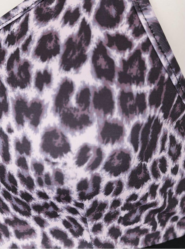 Černá podprsenka s leopardím vzorem Y.A.S Leo