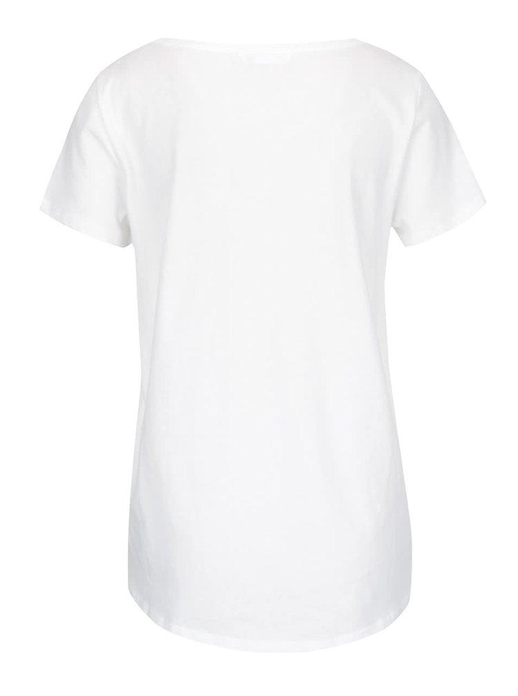 Krémové tričko s potiskem pampelišky ONLY Rhina