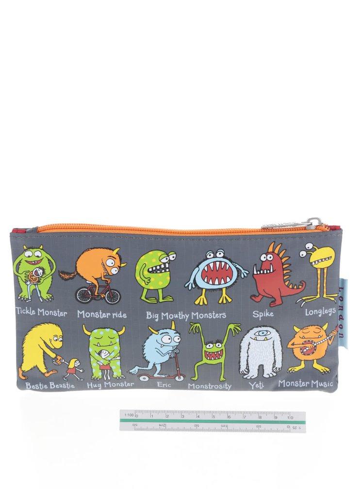 Penar gri Tyrell Katz Monsters cu imprimeu pentru băieți