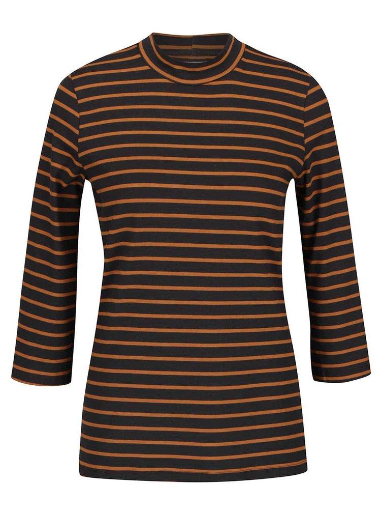 Bluza gri & portocaliu VERO MODA Sailor cu maneci trei sferturi