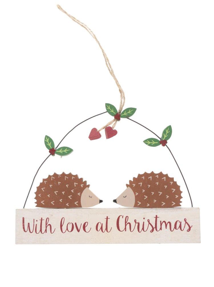 Závěsná dekorace ve tvaru ježka Sass & Belle With Love