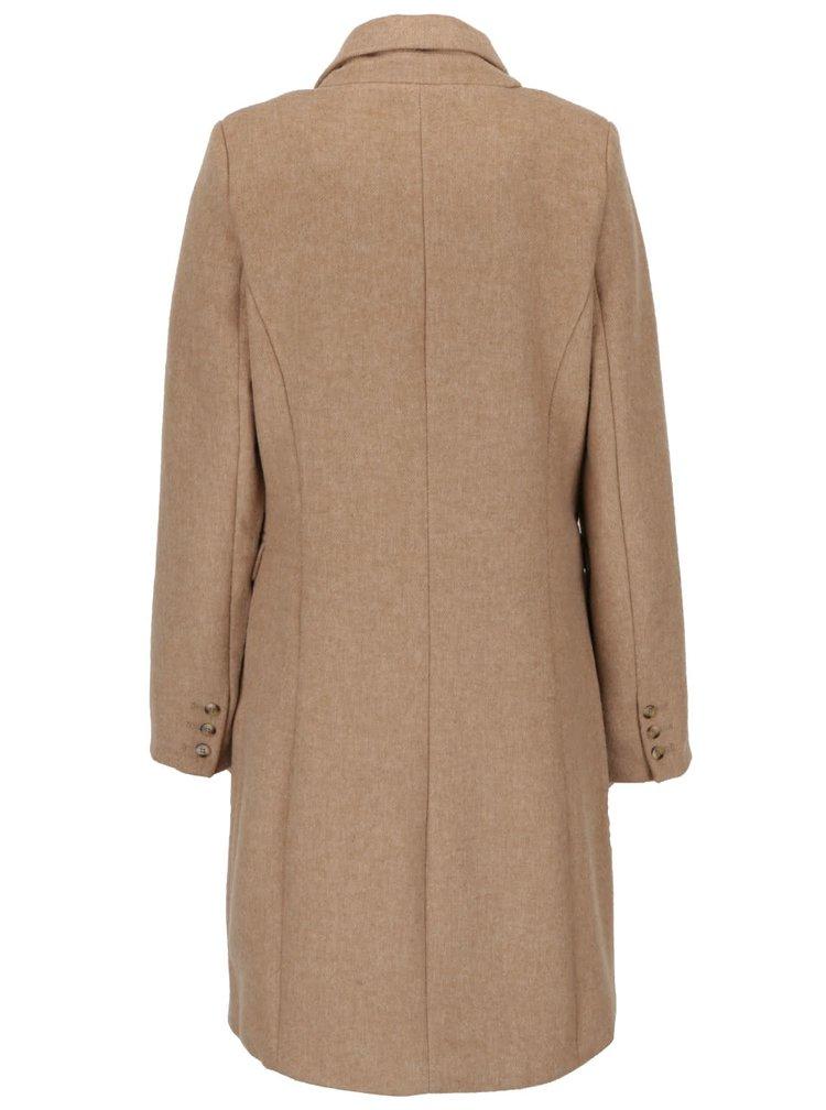 Béžový dámsky dvojradový kabát Broadway Reeve
