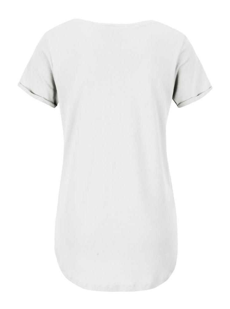 Krémové dámské tričko s potiskem Broadway Candra