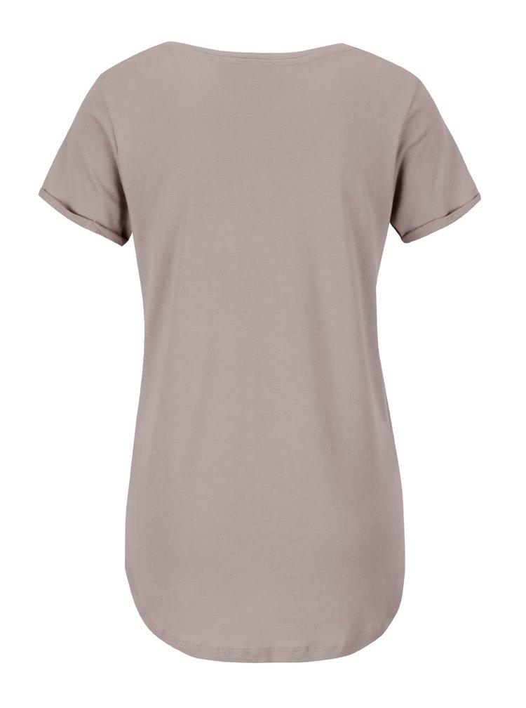 Sivohnedé dámske tričko s potlačou Broadway Candra