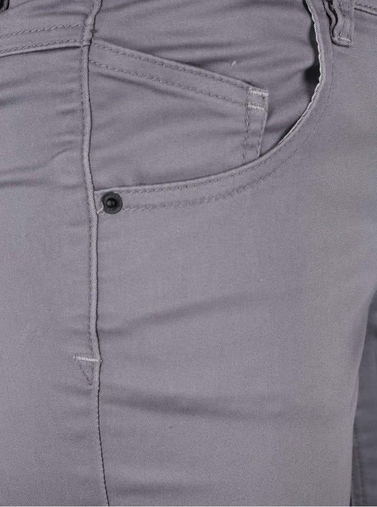 Světle šedé dámské skinny kalhoty se zapínáním na knoflíky Broadway Jane