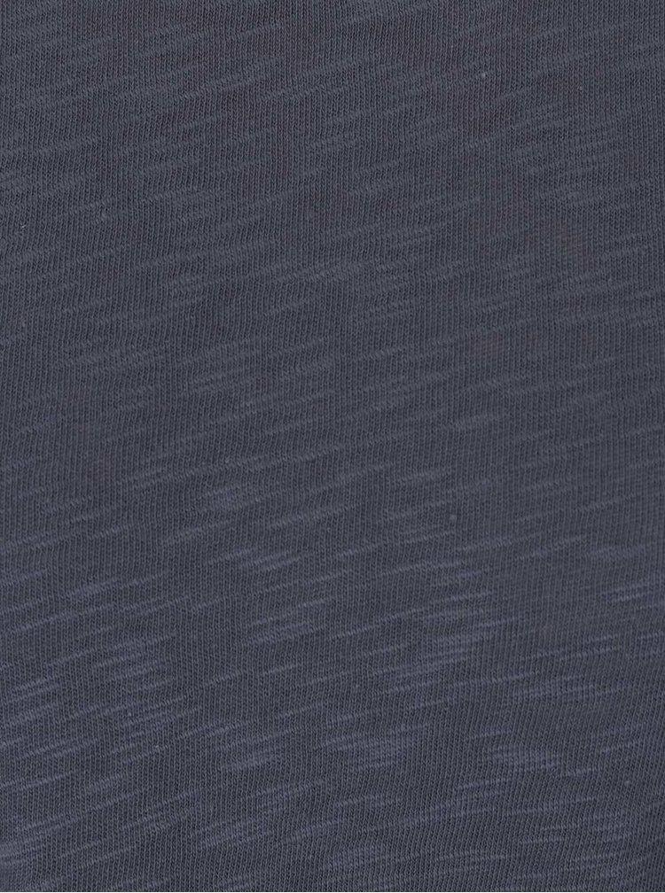 Modrošedý top s 3/4 rukávem ONLY Casa