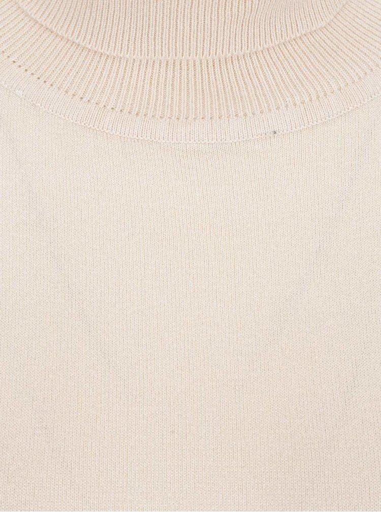 Bluza crem Broadway cu guler inalt pentru femei