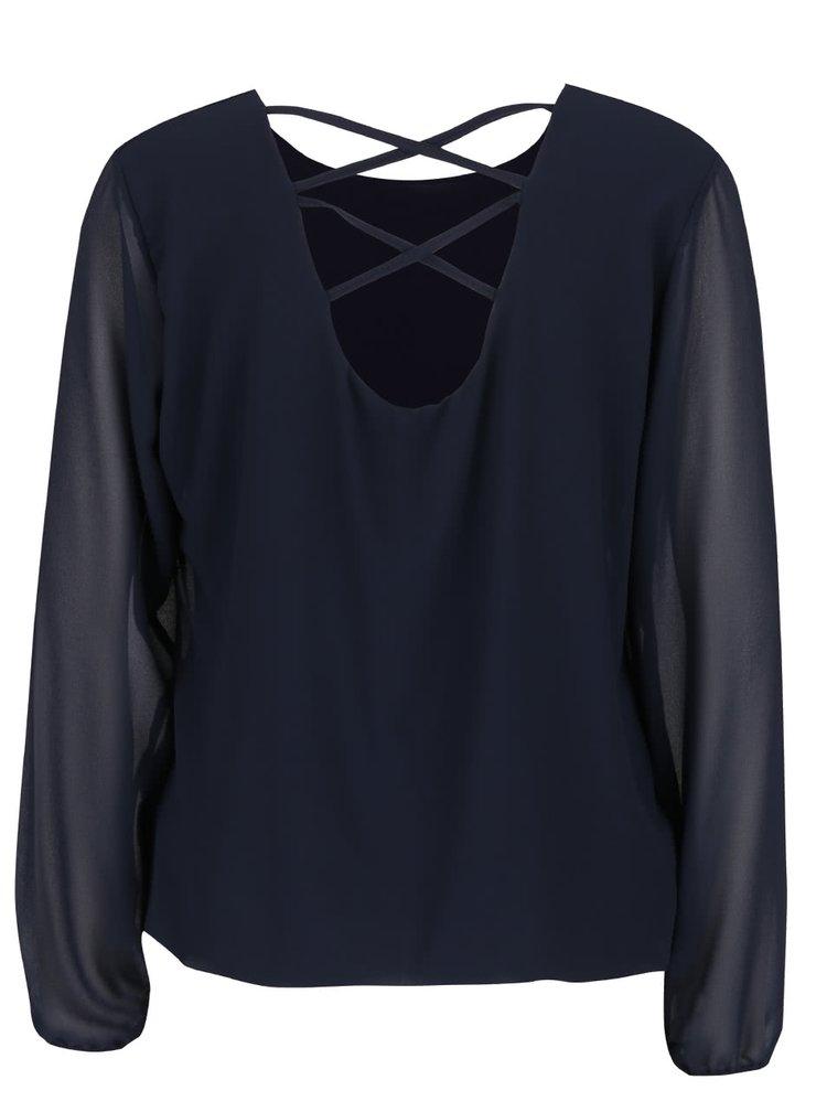 Bluza bleumarin Haily´s Belle cu decupaj la spate