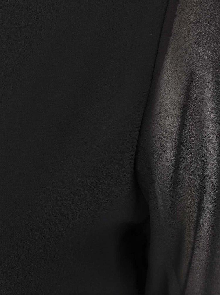 Černá halenka s průsvitnými dlouhými rukávy Haily´s Belle