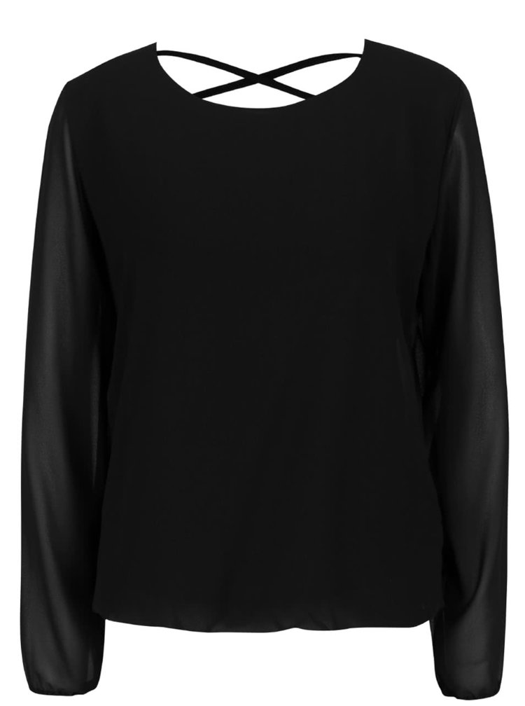 Bluza neagra Haily´s Belle cu decupaj la spate