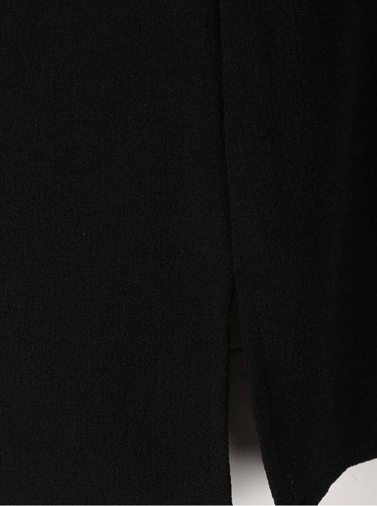 Čierna voľnejšia blúzka s krémovým golierikom ONLY Turner