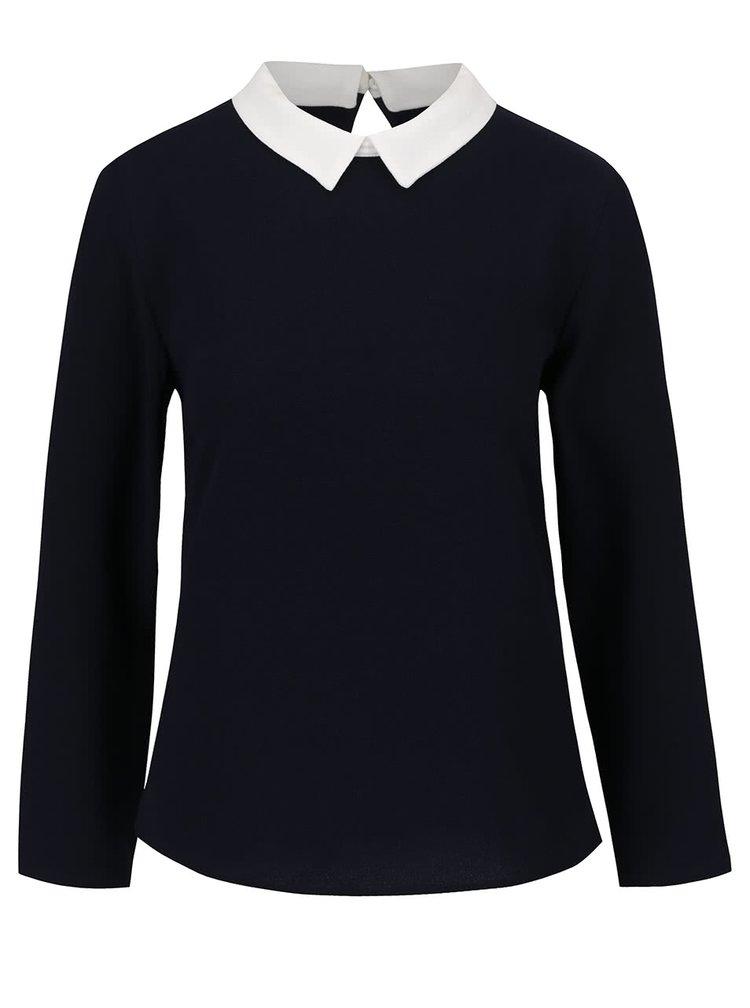 Bluza albastru inchis ONLY Turner cu detalii crem