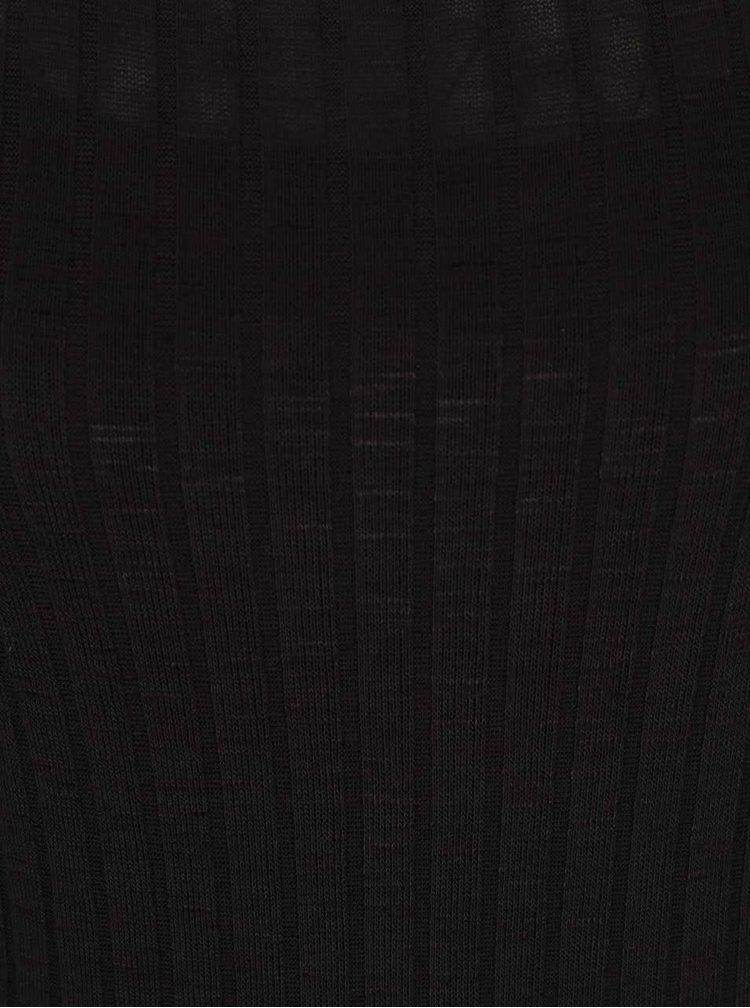 Černé delší žebrované šaty Broadway Saylor