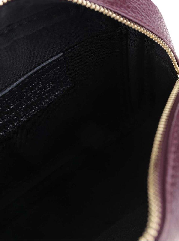 Vínová kožená crossbody kabelka se střapcem ZOOT
