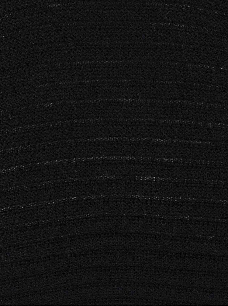 Černý pánský žebrovaný svetr Broadway Onni