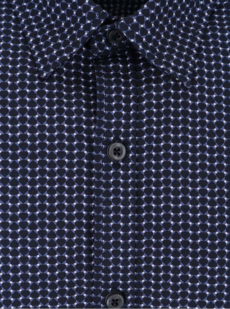 Tmavě modrá pánská vzorovaná košile Rolla Broadway