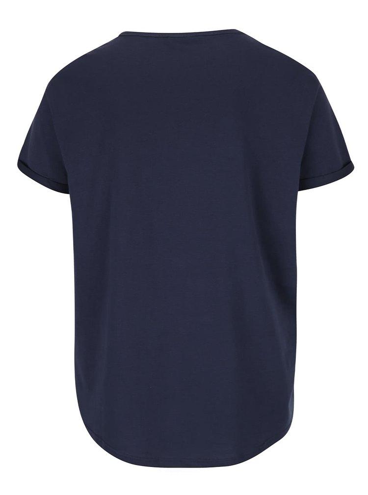 Tmavě modré pánské triko s potiskem Reza Broadway