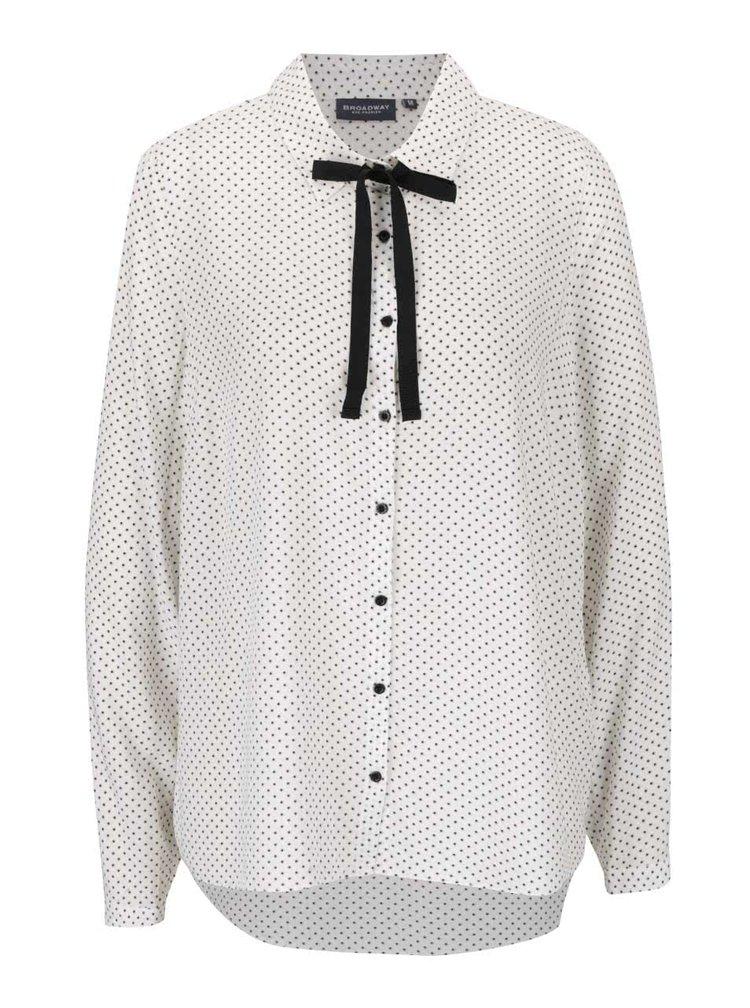 Krémová dámská vzorovaná košile s vázankou Broadway Riece