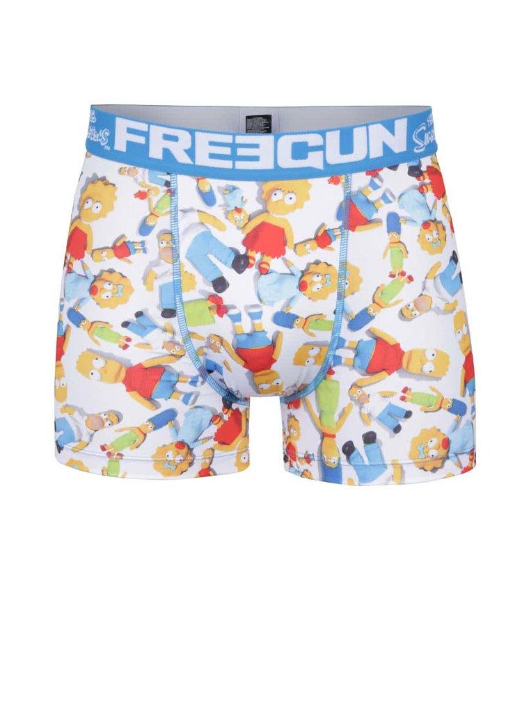 Boxeri albastru/alb Simpsons Freegun