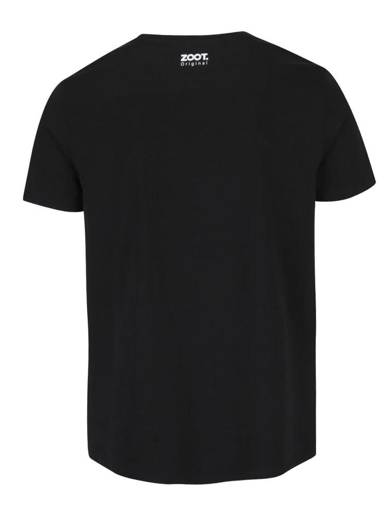 Černé pánské triko ZOOT Originál Si moja šálka kávy