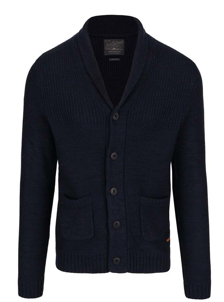 Tmavě modrý svetr s kapsami Jack & Jones Anthon