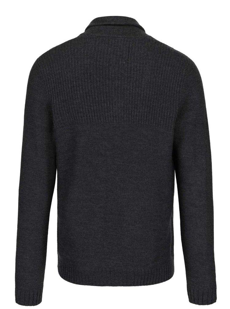 Tmavě šedý svetr s kapsami Jack & Jones Anthon