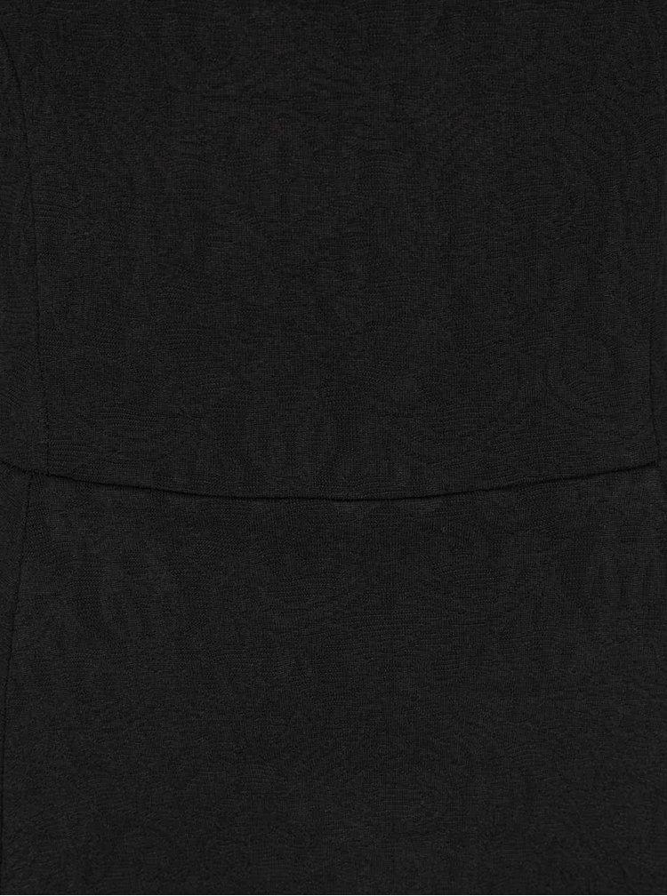 Rochie neagra cu model discret ZOOT