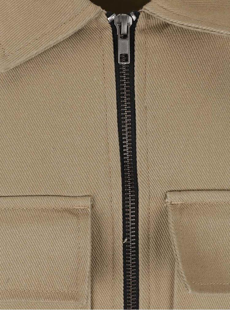 Béžová bunda s kapsami ONLY & SONS Becks