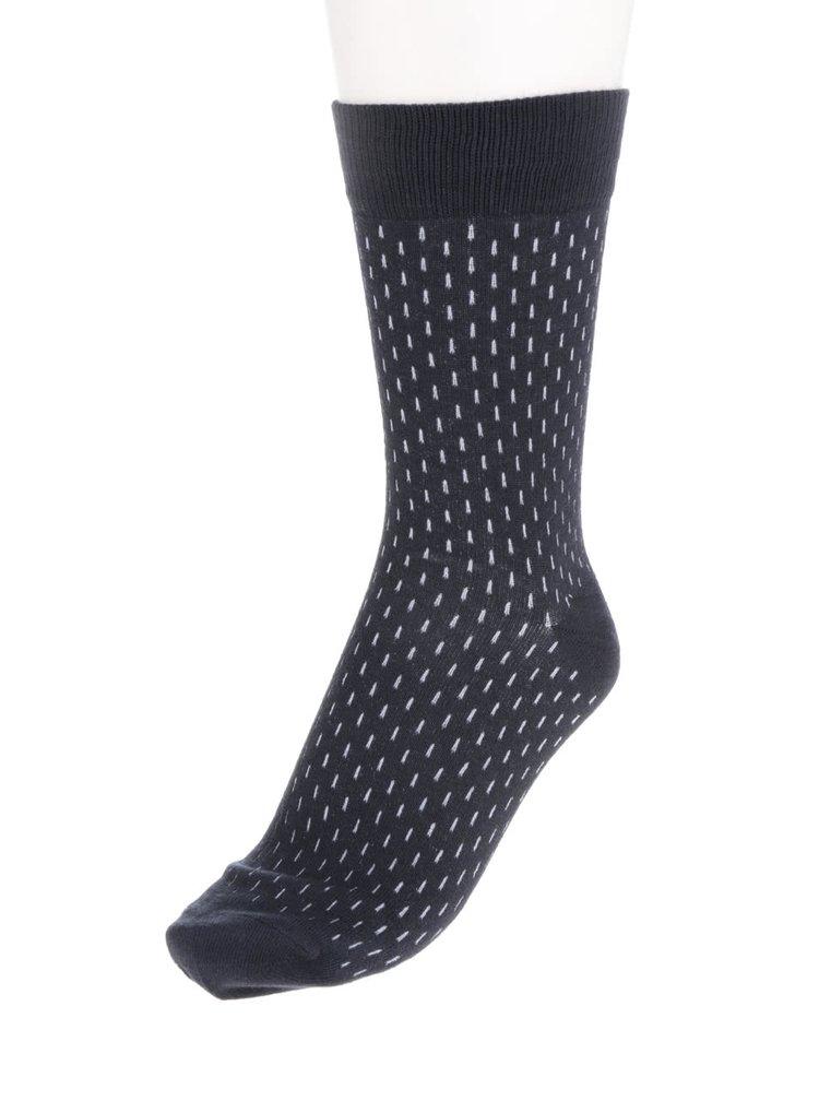 Súprava štyroch párov ponožiek v sivej, vínovej, modrej a čiernej farbe Jack & Jones Stepper