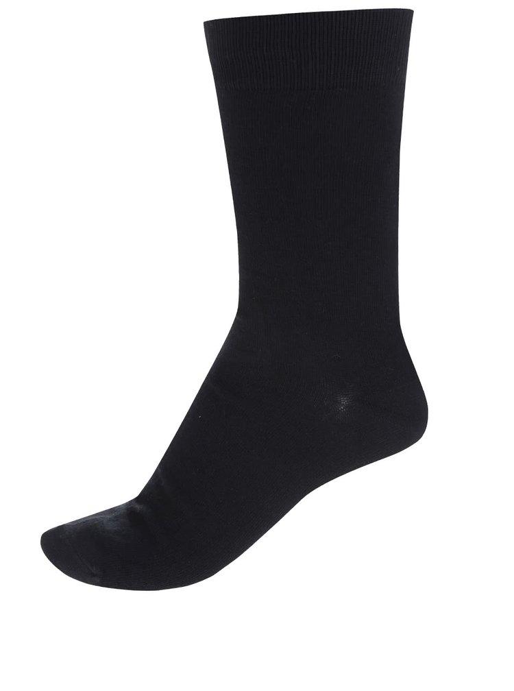 Súprava štyroch párov čiernych a sivých ponožiek s jemným vzorom Jack & Jones Magnus