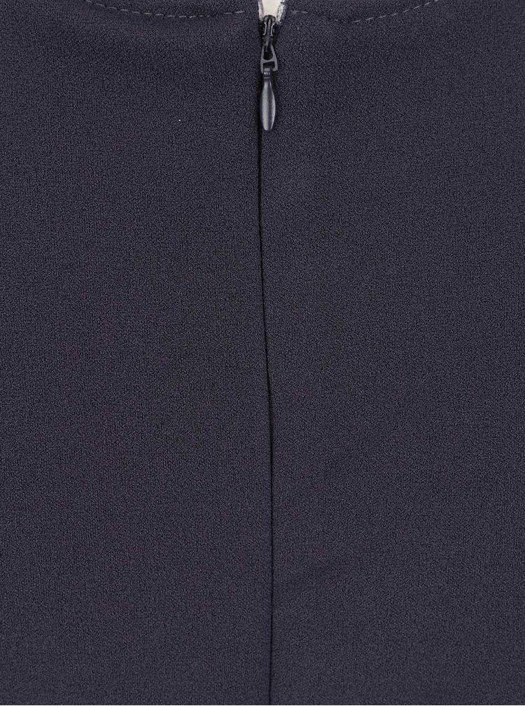 Šedomodré šaty s tvarovaným výstřihem ZOOT