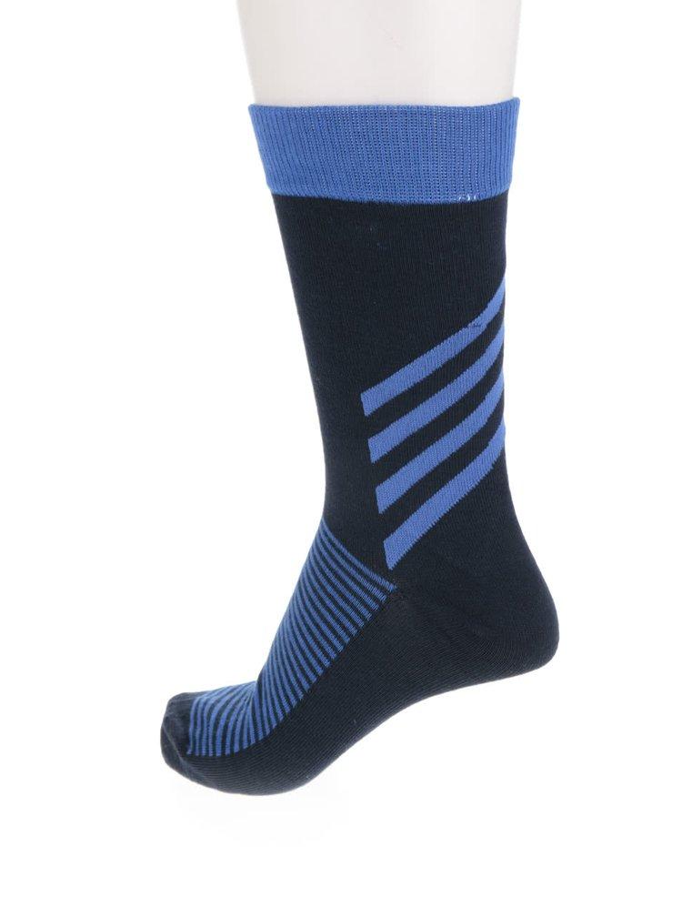 Súprava štyroch párov tmavomodrých ponožiek s jemným vzorom Jack & Jones Verticalilusion