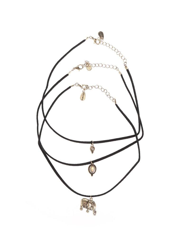 Set náhrdelníků s přívěškem ve zlaté barvě TALLY WEiJL