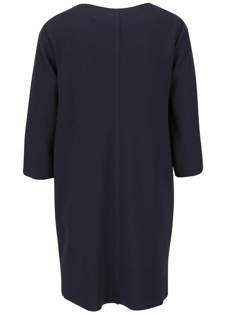 Šedomodré volnější šaty s 3/4 rukávy ZOOT