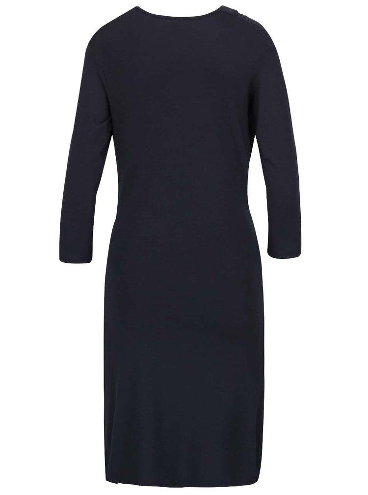 Rochie albastru închis cu decolteu fronsat ZOOT